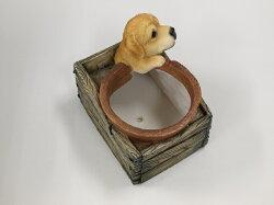 【置物】箱型ポット子犬_03