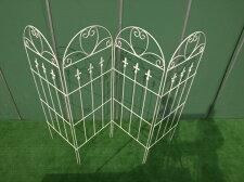 『アイアンフェンス4枚セット』GD130【ガーデンフェンス