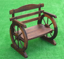 椅子型花台焼杉小