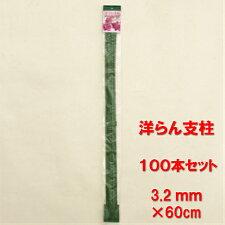 【送料無料】洋ラン支柱3.2mm*60cm100本セット(10本×10組入り)