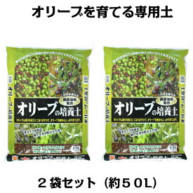 オリーブの培養土 25L×2袋セット(約50リットル)[g26]【クーポン配布店舗】【ポイント10倍 9月末日まで】