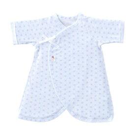 a1e691bb501c6  あす楽対応 新生児ウエア 赤ちゃんの城 コンビ肌着 麻の葉柄 フライス サックス