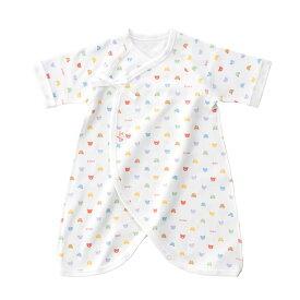 e3f6533012fa4  あす楽対応 新生児ウエア 赤ちゃんの城 コンビ肌着 ベビーパステル スムース(