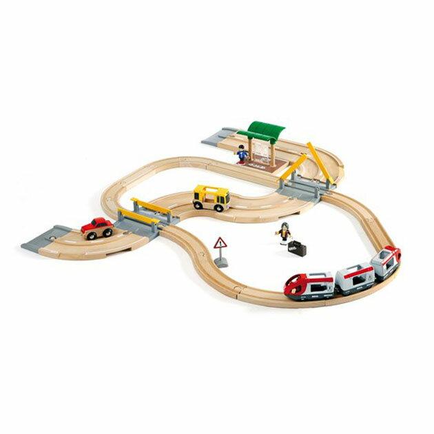 輸入玩具 BRIO(ブリオ) レール&ロードトラベルセット 33209