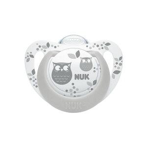 【あす楽対応】哺乳用品 NUK (ヌーク) おしゃぶり ジーニアス (消毒ケース付) 0-6か月 フクロウ