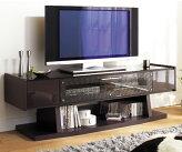 シェル155PZTV(BK)ブラック色完成品だから組立商品よりがたつきが少ないテレビ台ガラス張りテレビ台テレビボードプラズマ対応ブラックシンプル