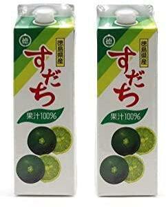 《送料無料》JA徳島 すだち果汁100% 1000ml 紙パック ×2本セット