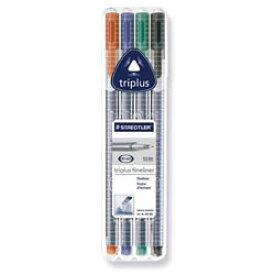 【メール便対応】ステッドラー トリプラス ファインライナー 細書きペン 4色セット 334 SB4