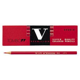 【メール便対応/6ダースまで】トンボ鉛筆 赤鉛筆8900V(朱色) 8900-V 『1ダース』