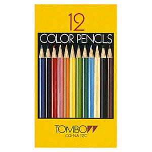 【メール便対応/3個まで】トンボ鉛筆 色鉛筆 紙箱 12色 CQ-NA12C