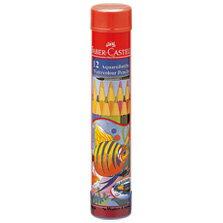 【メール便不可】ファーバーカステル水彩色鉛筆 丸缶 12色セット TFC-115912