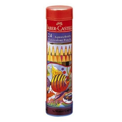 【メール便不可】ファーバーカステル水彩色鉛筆 丸缶 24色セット TFC-115924