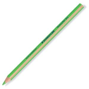 【メール便対応】ステッドラー テキストサーファードライ 蛍光色鉛筆 128 64-5 ネオングリーン