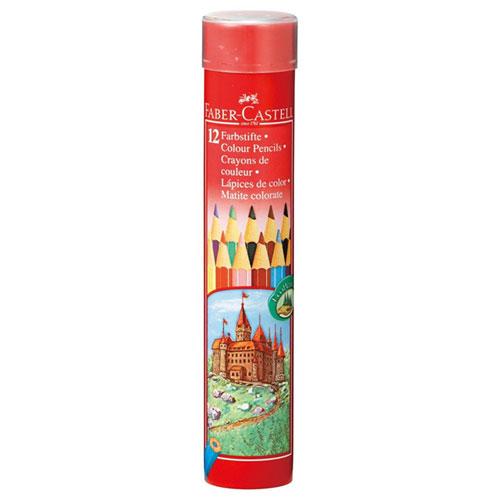 【メール便不可】 ファーバーカステル色鉛筆  丸缶  12色セット TFC-CPK/12C