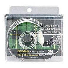 【メール便対応】3M Scotchメンディングテープ 小巻 ディスペンサー付(18mm×30m) 810-1-18D