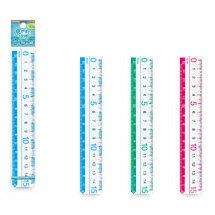【メール便対応】レイメイ 見やすい定規(15cm) AJR125