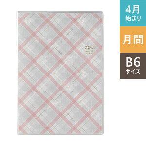 【メール便対応】日本能率協会 2021年4月始まり PAGEM(ペイジェム) マンスリーB6-i 日曜(ピンクチェック) 9909