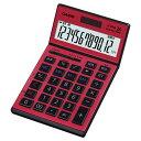 【送料無料】カシオ 本格実務電卓 12桁 JS-201SK-RD-N レッド