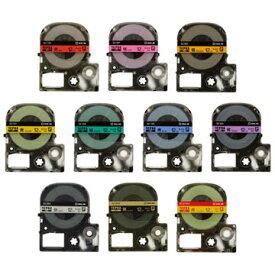 【メール便対応】キングジム テプラPROテープカートリッジ カラーラベル(パステル) 12mm幅 SC12