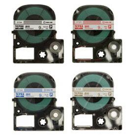【メール便対応】キングジム テプラPROテープカートリッジ 透明ラベル 9mm幅 ST9