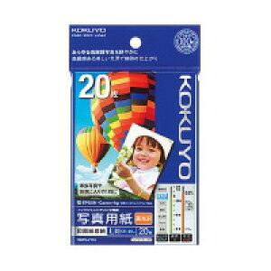 【メール便対応/12冊まで】コクヨ インクジェットプリンタ用紙 KJ-D12L-20 写真用紙/印画紙原紙(高光沢) [L判/20枚入]