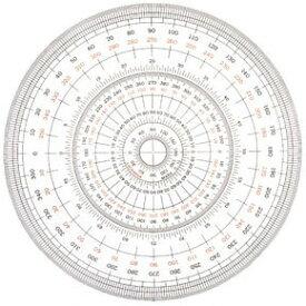 【メール便対応】UCHIDA 全円分度器[12cm] 1-822-0000