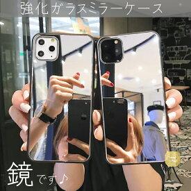 iPhone 12 ケース iPhone 11 ケース Galaxy S20 S10 HUAWEI P30 ProケースiPhone 11 Proミラーケース 鏡付き背面保護ケース iphoneXS iphone 8 SE2 強化ガラス ノームコアiphoneXR iphone7 iphone7plus 強化ガラス背面保護ケース 化粧鏡 ノームコア カバー