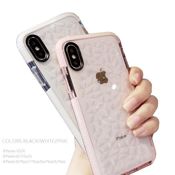 Iphone XR iPhone XS Max iphone8 iphone8plus iphoneXS iphoneX キラキラ クリアケース 透明 スマホケース iphone7 iphone7plus iphone6s iphone6splus iphone6 iphone6plus アイフォーン8プラス 3D シンプル カワイイ キレイ 背面保護カバー 薄い 軽量 レディース