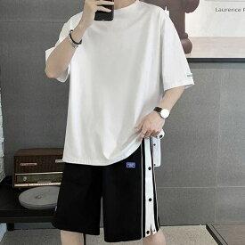 【冷感】セットアップ メンズ 夏 スウェット 上下 ジャージ 大きいサイズ サマー 薄手 ショートパンツ トップス シャツ 生地 半袖 おしゃれ カジュアル 12393