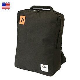 b42e47896048 Drifter ドリフター Square Backpack スクエア バックパック ブラック アメリカ製 ビジネス 2019年 春新入荷