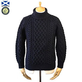 STRATHTAY ストラステイ 1A ROLL NECK SWEATER ロールネック セーター NAVY スコットランド製