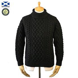 STRATHTAY ストラステイ 1A ROLL NECK SWEATER ロールネック セーター BLACK スコットランド製
