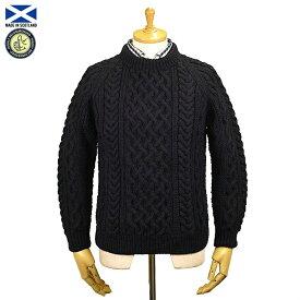 STRATHTAY ストラステイ 1A CREW NECK SWEATER クルーネック セーター NAVY スコットランド製