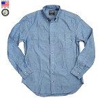GITMANVINTAGEギットマンヴィンテージCHAMBRAYL/SBDSHIRTシャンブレー長袖メンズボタンダウンシャツアメリカ製MadeinUSA2019年秋新入荷商品