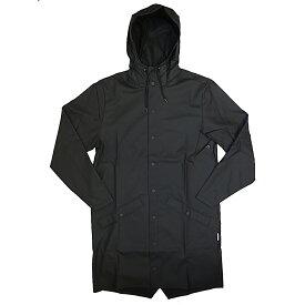 RAINS レインズ ロング ジャケット ブラック レインコート 防水 2019年 春夏入荷商品
