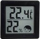 メール便 代金引換不可 ドリテック 小さいデジタル温湿度計 O-257BK ブラック