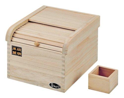 パール金属 桐製米びつ おいしく保存5kg用 H-5547 02P03Sep16
