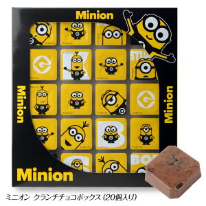 ミニオン クランチチョコボックス[バレンタイン 2020 おもしろ チョコレート おもしろチョコ 面白い][義理チョコ キャラクター 子供]