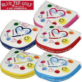BLUE TEE GOLF ブルーティーゴルフ スマイル&ハート パターカバー(マレットタイプ) PC-003[ゴルフ用品 グッズ ギフト プレゼント]