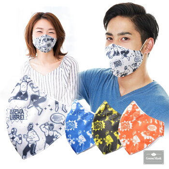 デザインマスクルチャリブレ/プロレス(洗える2層立体構造)グースマスク