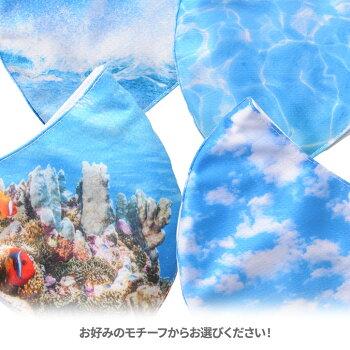 デザインマスク海・空の写真(洗える2層立体構造)グースマスク4