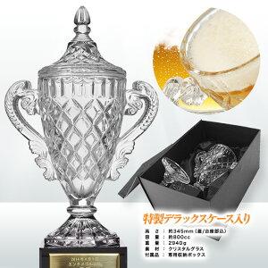 クリスタルトロフィービールジョッキLサイズ(優勝カップ)プレート名入れ無料2