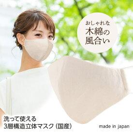日本製 洗えるマスク 立体3層構造 1枚 まるあい[洗濯 男女兼用 洗える マスク 在庫あり]