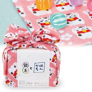 飴玉とハンカチのプチギフトあめはん桜と招き猫