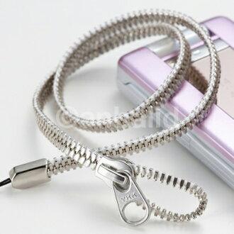 手机链/颈带(YKK拉链,银色,AM-303/BK AM-303/WH)