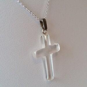 水晶十字架型ペンダントヘッド【送料無料】【代引不可】