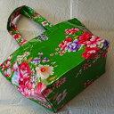 ♪台湾客家コーティング花布製トートバッグSサイズ(グリーン)【送料無料】【Sale対象外】