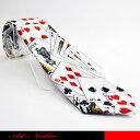 トランプデザインのネクタイです。☆面白ネクタイ/トランプ/ギャンブラー/ポーカー/ジョークタイ/