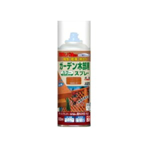 ニッペ ガーデン木部用スプレー [300ml] 日本ペイント・ニッペホーム・ラティス・ウッドデッキ・犬小屋・木部・木製品・油性