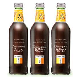 ソーンクロフト ハーブ コーディアル カリン&ハニー 375ml 3本セット かりん&蜂蜜 【 コーディアル シロップ タルゴ 数量限定 】